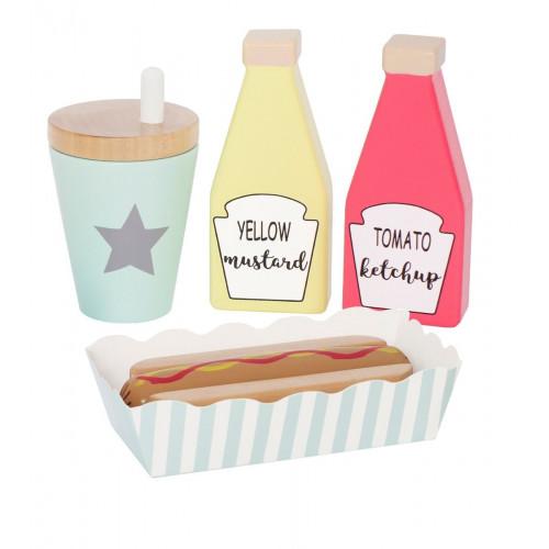 JaBaDaBaDo Dřevěné Hot dog menu