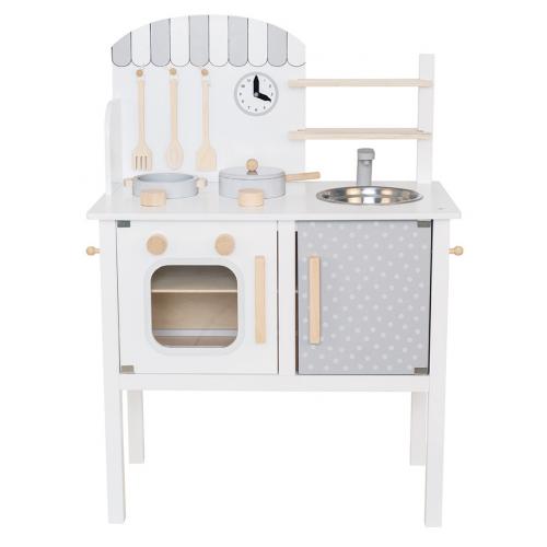 JaBaDaBaDo Dětská kuchyňka s hrncem a pánví bílá