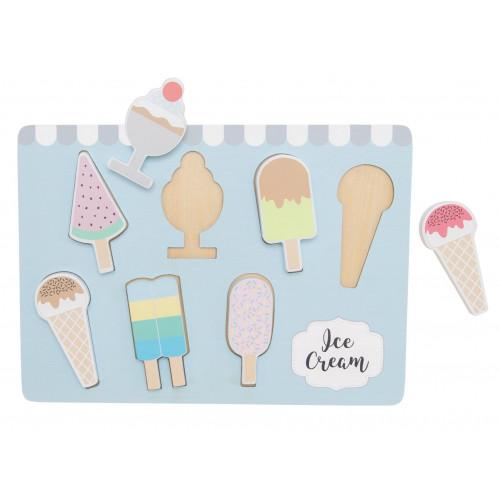 JaBaDaBaDo Dřevěné vkládací puzzle - zmrzlina