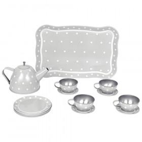 JaBaDaBaDo čajová souprava s kufříkem šedá