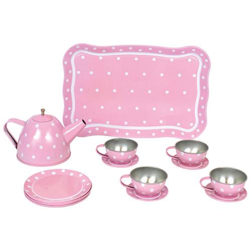 JaBaDaBaDo čajová souprava s kufříkem růžová