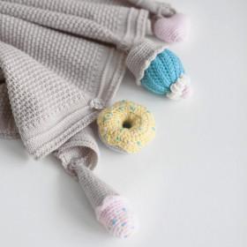 Dětská deka z merino vlny Sweets vanilková