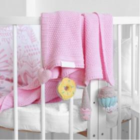 Dětská deka SWEETS z merino vlny růžová