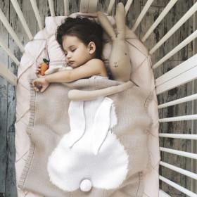 Malá dětská deka z merino vlny Bunny béžová