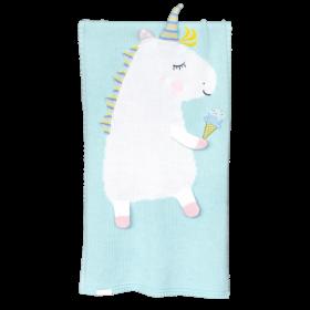 Dětská deka z merino vlny Unicorn mátová
