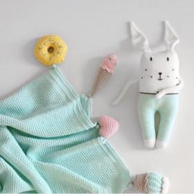 Dětská deka SWEETS z merino vlny máta