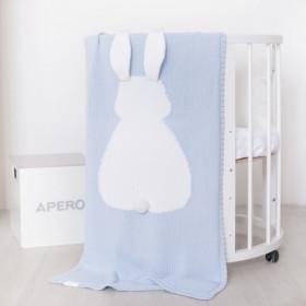 bunny deka modrá bavlna