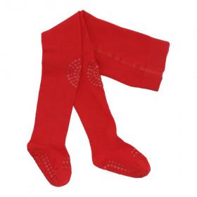 GoBabyGo protiskluzové punčocháče červené