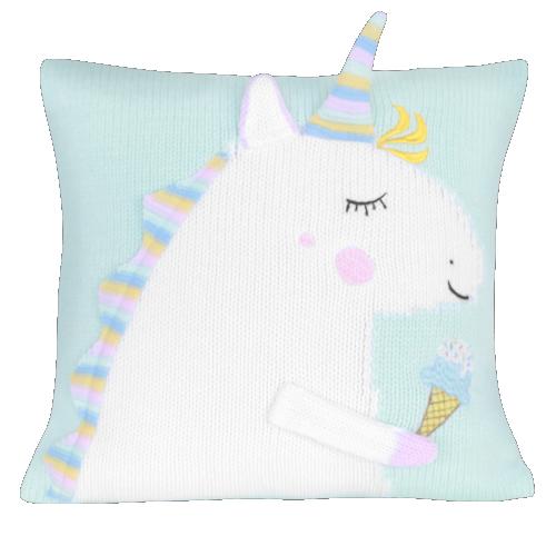 unicorn polštář máta
