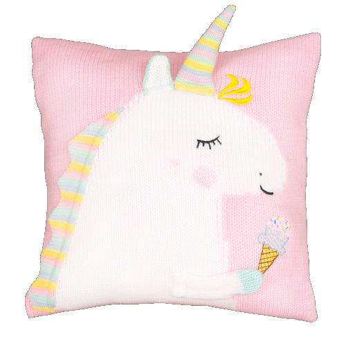 unicorn polštářek světle růžový