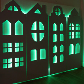 Illuminated Tenement Houses