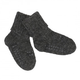 GoBabyGo protiskluzové ponožky tmavě šedé Alpaka