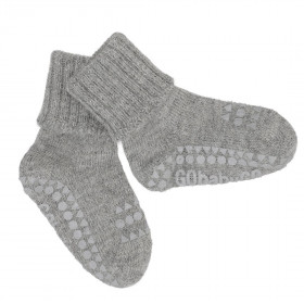 GoBabyGo protiskluzové ponožky šedé Alpaka