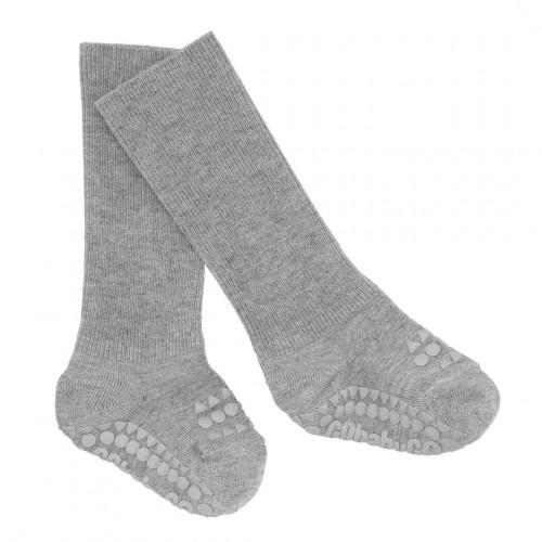 GoBabyGo protiskluzové ponožky bambusové šedé