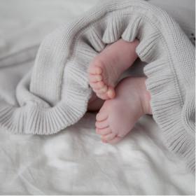 Dětská pletená bavlněná deka Milky šedá